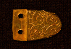 "Saxon Belt Tip with Floral Design (1/2"") - B-74"