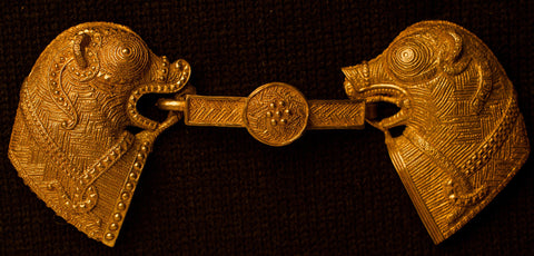 Viking Clasp with Ornate Animals - CC20