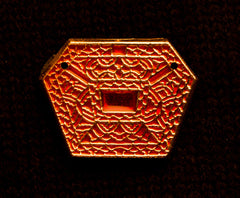 Mount, six sided red enamel - S-28