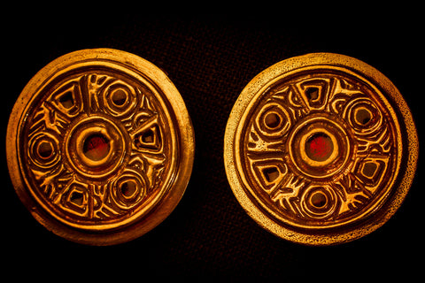 Saxon Red Enamel Brooches - SB03