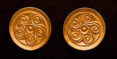 Round Saxon Brooch with Spiral Design - SB04
