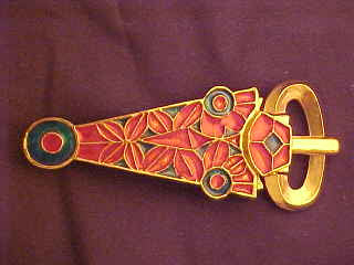 Sutton Hoo Buckle with enamel - S-35