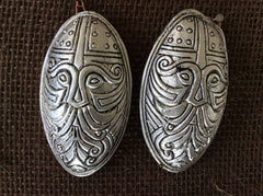 Silverplate - Turtle Brooch set with Odin Face - TB18