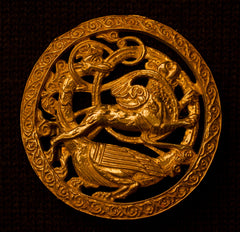 Brooch with Phoenix and Bird - W-31