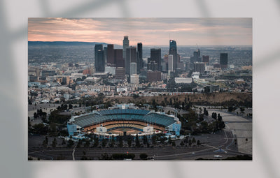 """L.A. Aerial - Downtown One"" als Wandbild"