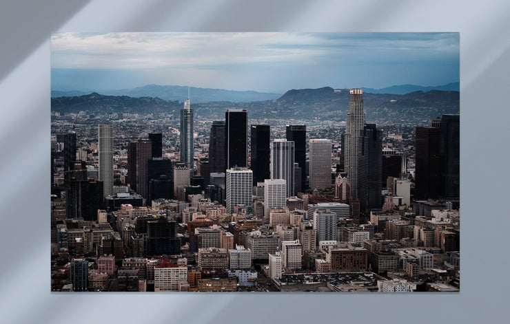 """L.A. Aerial - Downtown Two"" als Wandbild"