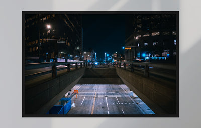 Poster - Downtown bei Nacht, Los Angeles