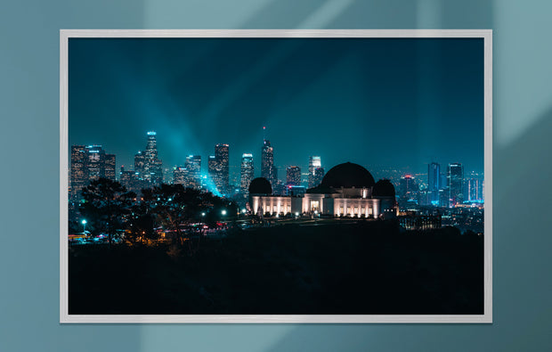 Poster - Griffith Observatory bei Nacht, Los Angeles