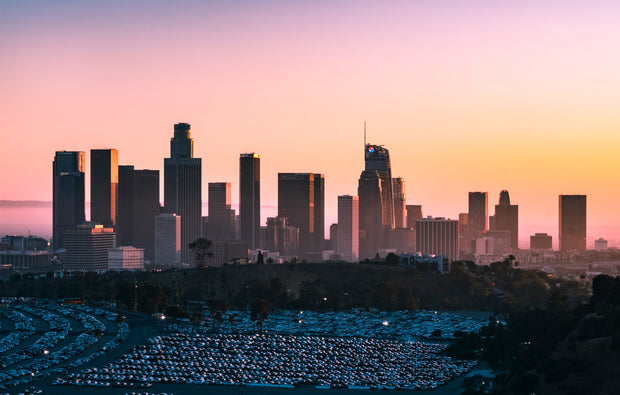 Wandbild - Downtown Skyline, Los Angeles