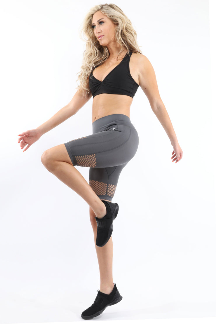 Malibu Seamless Activewear Shorts - Grey - Eli-ellas