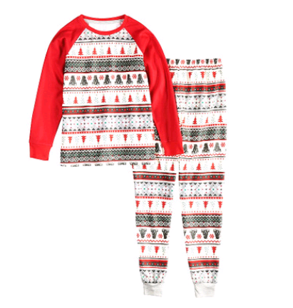 Christmas parent-child suit printing home service pajamas two-piece