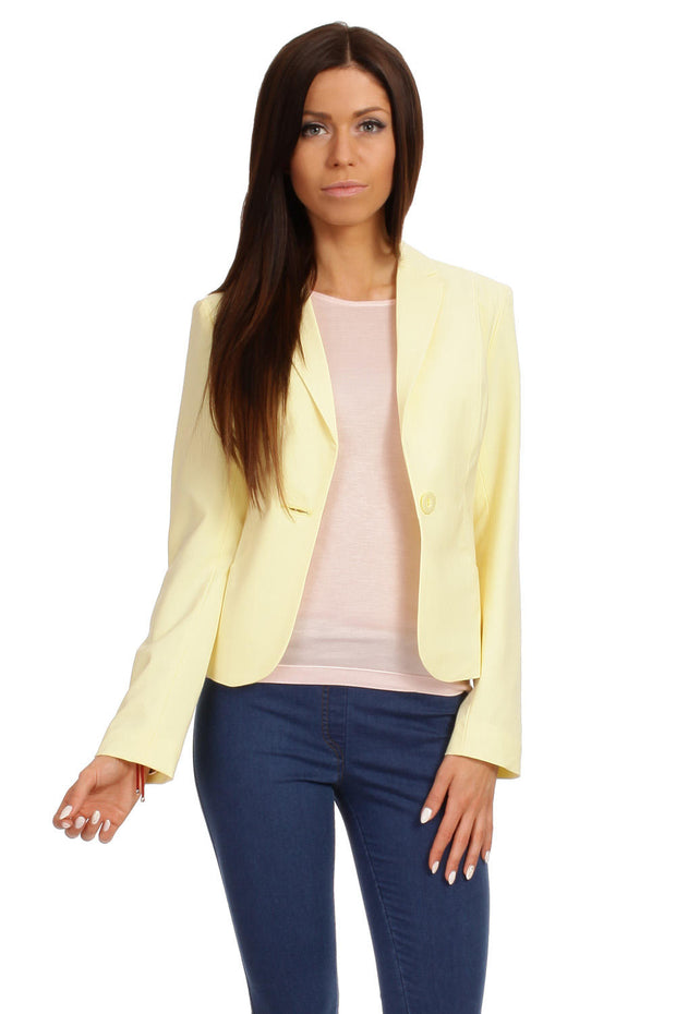 women-jacket-and-coatsYellow MOE Blazers - Eli-ellas