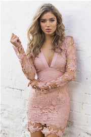 eliellas wind sexy lace lace dress Halter deep V spot