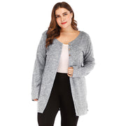 Spring Knitted Cardigan Women baggy sweater High Split V Neck Long knitted tunics tops ladies long cardigan large size 3xl - Eli-ellas