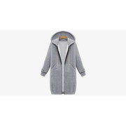 Women's Long Zip Sweatshirt Hoodie (Shipped from USA) - Eli-ellas