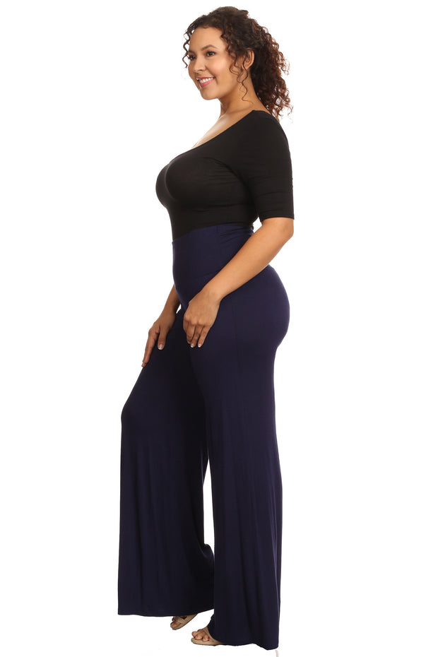 Plus Size Women's Palazzo Pants Hight Waisted Made in the USA - Eli-ellas