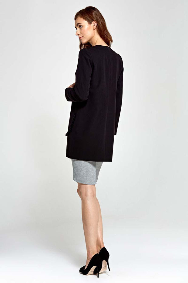 women-jacket-and-coatsBlack Nife Blazers - Eli-ellas