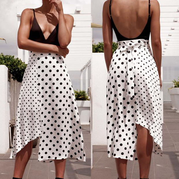 eliellas Polka-dot Beach Skirt