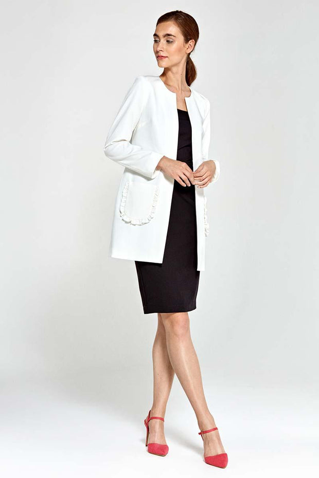 women-jacket-and-coatsEcru Nife Blazers - Eli-ellas