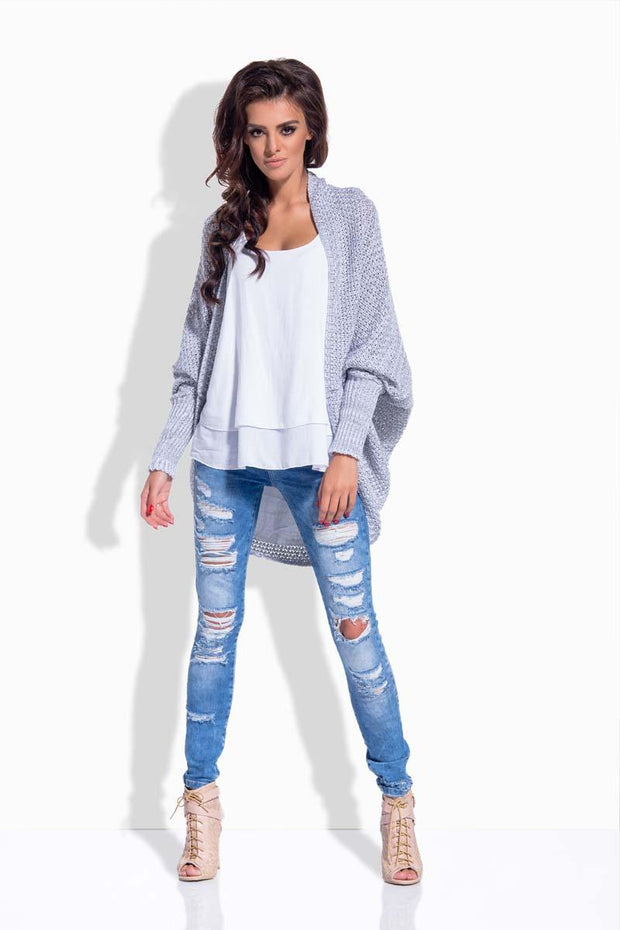 women-jacket-and-coatsLight Grey Sweaters - Eli-ellas