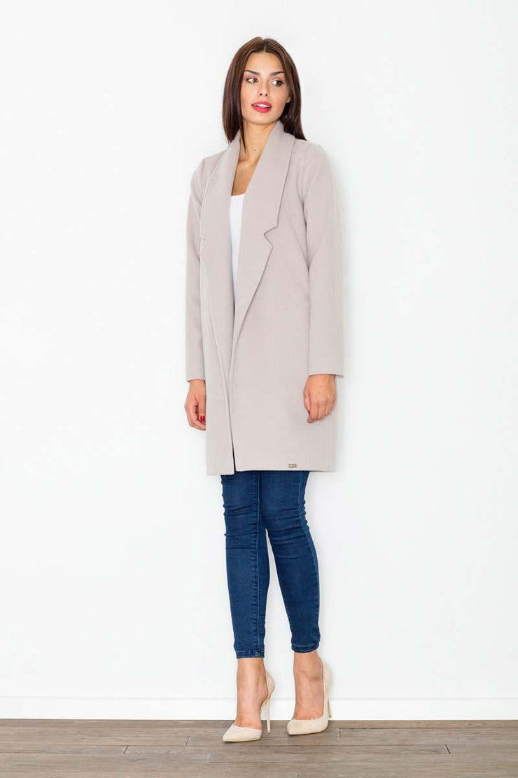 women-jacket-and-coatsBeige Figl Jackets & Coats - Eli-ellas
