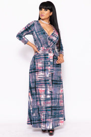 Elegant Maxi Dress With A Waist Tie - Eli-ellas
