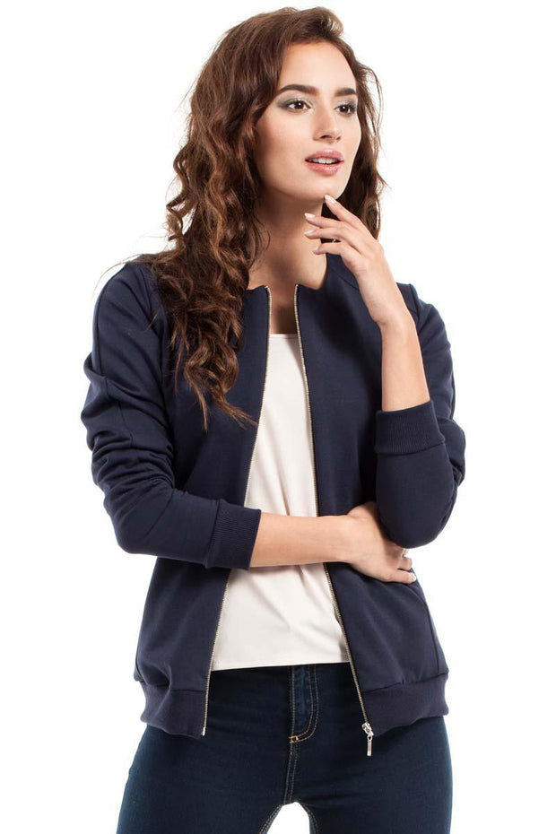 women-jacket-and-coatsNavy Blue MOE Jackets & Coats - Eli-ellas