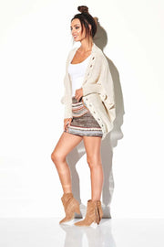 women-jacket-and-coatsBeige Sweaters - Eli-ellas