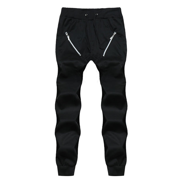Men Casual Regular Low Waist Flat Joggers - Eli-ellas