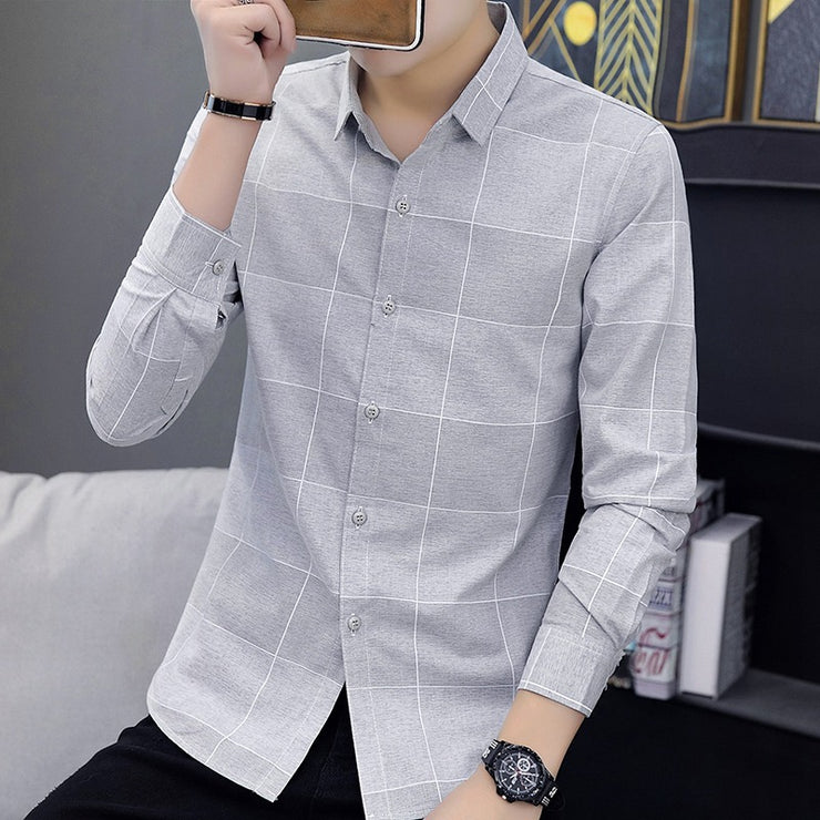 Men's long-sleeved shirt 2019 autumn - Eli-ellas