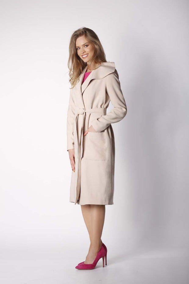 women-jacket-and-coatsBeige Nommo Jackets & Coats - Eli-ellas