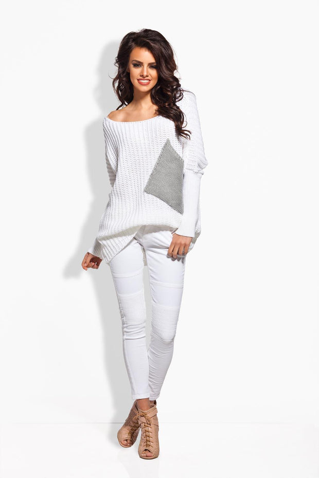 women-jacket-and-coatsWhite Sweaters - Eli-ellas
