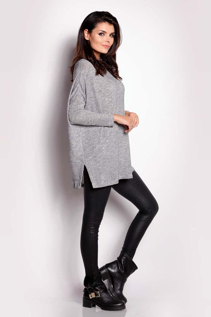 women-jacket-and-coatsGrey Awama Sweaters - Eli-ellas