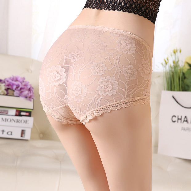 eliellas High Waist Plus Size Sexy Lace Panties