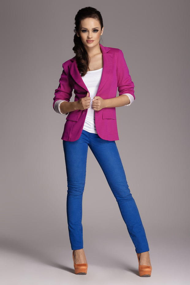 women-jacket-and-coatsFuchsia Figl Blazers - Eli-ellas
