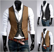 Men's Slim Fit Layered Vest - Eli-ellas