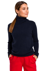 women-jacket-and-coatsNavy Blue MOE Sweaters - Eli-ellas
