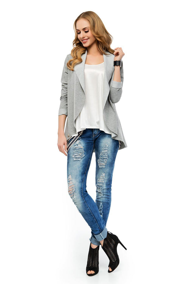 women-jacket-and-coatsGrey Makadamia Blazers - Eli-ellas