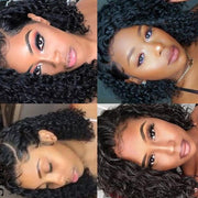 Lace Wigs Invisible Lace Front Wigs Short Bob Curly Lace Front Human