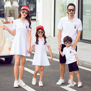 Father Son Sport Outfits Clothes Mommy and Me Dresse,shirt