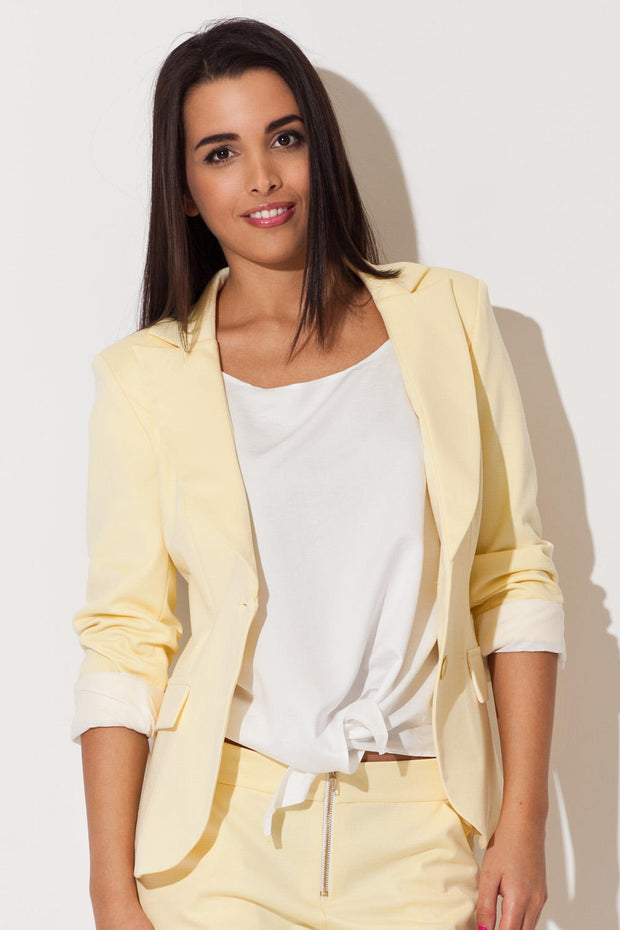 women-jacket-and-coatsYellow Katrus Blazers - Eli-ellas