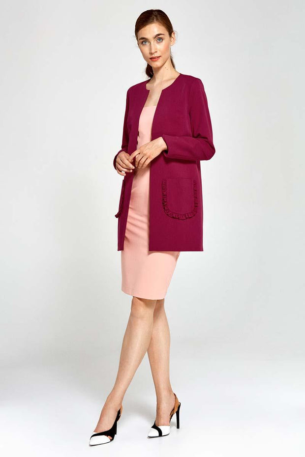 women-jacket-and-coatsMaroon Nife Blazers - Eli-ellas