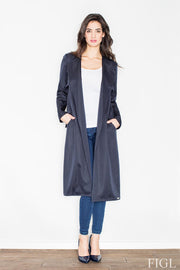 women-jacket-and-coatsNavy Blue Figl Jackets & Coats - Eli-ellas