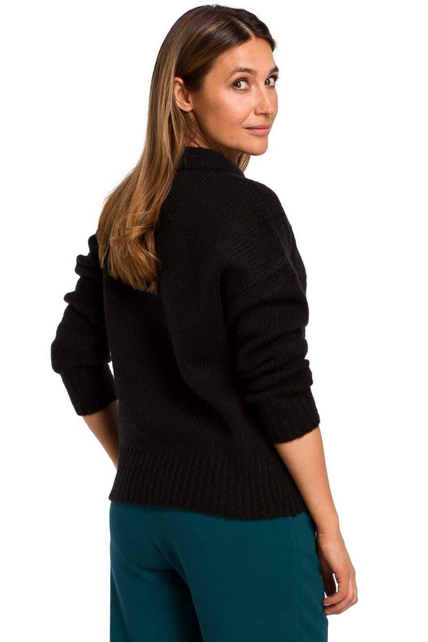 women-jacket-and-coatsBlack MOE Sweaters - Eli-ellas