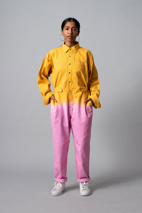 Kulfi Faluda Jumpsuit (Yellow/Pink)