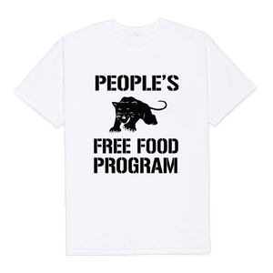 Panther's Free Food Program Shirt (white)