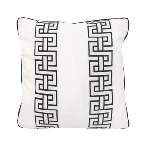 FLAIR HOME COLLECTION GEOMETRIC EMBROIDERED PILLOW - Flair Home Collection