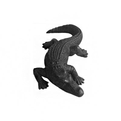 BRONZE CROCODILE OBJECT - Flair Home Collection
