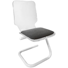 Load image into Gallery viewer, LUCITE AND POWDER COATED CHROME Z BASE DESK CHAIR - Flair Home Collection