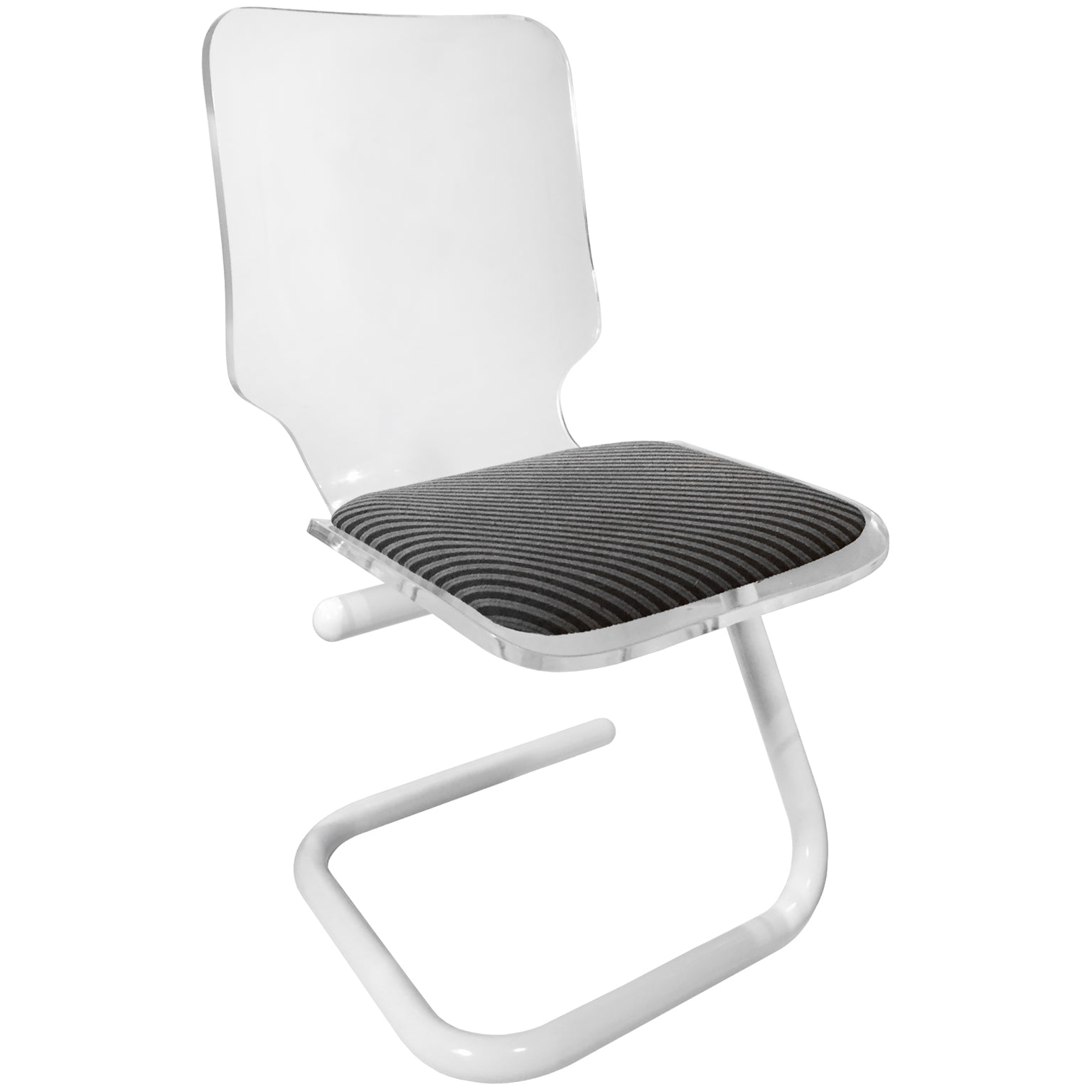 Image of: Lucite And Powder Coated Chrome Z Base Desk Chair Flair Home Collection